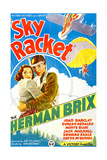 SKY RACKET, US poster art, from left: Joan Barclay, Bruce Bennett (aka Herman Brix), 1937 Print