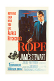 ROPE, poster art, James Stewart, 1948 Prints