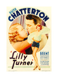 LILLY TURNER, from left: Ruth Chatterton, George Brent on midget window card, 1933 Poster