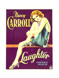 LAUGHTER, Nancy Carroll on window card, 1930. Prints