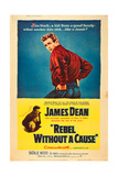 REBEL WITHOUT A CAUSE, James Dean, (below, with Natalie Wood), 1955 Poster