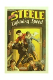 LIGHTNING SPEED, center: Bob Steele, 1928 Print