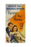 KEEPER OF THE FLAME, from left top and bottom: Spencer Tracy, Katharine Hepburn, 1942. Print