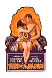 BIRD OF PARADISE, l-r: Dolores Del Rio, Joel McCrea on die cut display, 1932. Prints
