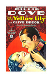 THE YELLOW LILY, l-r: Billie Dove, Clive Brook on poster art, 1928 Prints