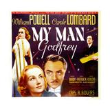 My Man Godfrey, Carole Lombard, William Powell, 1936 Plakater