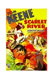 SCARLET RIVER, bottom left: Tom Keene, 1933. Posters