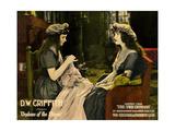ORPHANS OF THE STORM, l-r: Lillian Gish, Dorothy Gish on lobbycard, 1921. Poster