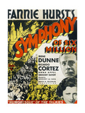 SYMPHONY OF SIX MILLION, US poster art, from top: RIchard Dix, Irene Dunne, 1932 Posters