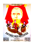 ENTREE DES ARTISTES, (aka THE CURTAIN RISES), French poster art, top: Louis Jouvet, 1938 Poster