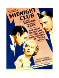 MIDNIGHT CLUB, from left: George Raft, Helen Vinson, Clive Brook on midget window card, 1933. Prints