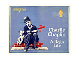 A DOG'S LIFE, Charlie Chaplin on 1920s poster art, 1918 Prints