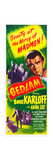 BEDLAM, top right: Boris Karloff on insert poster, 1946 Prints