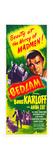 BEDLAM, top right: Boris Karloff on insert poster, 1946 Prints
