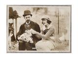 HIS HIDDEN PURPOSE, l-r: Chester Conklin, Marie Prevost on lobbycard, 1918 Prints