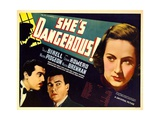 SHE'S DANGEROUS!, from left: Cesar Romero, Walter Pidgeon, Tala Birell, 1937 Plakat