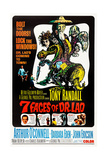 7 FACES OF DR. LAO, (aka SEVEN FACES OF DR. LAO), US poster, Tony Randall, 1964. Prints