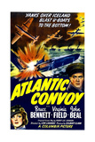 ATLANTIC CONVOY, US poster, center right: Bruce Bennett, bottom left: Virginia Field, 1942 Art