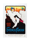 FRENCH CANCAN, poster art, 1955. Print