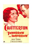 TOMORROW AND TOMORROW, from left: Ruth Chatterton, Paul Lukas, 1932. Prints