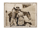 ROPING ROMEO, l-r: Ben Turpin, Slim Summerville, Polly Moran on lobbycard, 1917 Posters