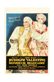 MONSIEUR BEAUCAIRE, l-r: Rudolph Valentino, Bebe Daniels on poster art, 1924. Prints