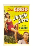 JUNGLE SIREN, from left: Ann Corio, Buster Crabbe, 1942 Print