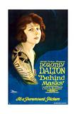 BEHIND MASKS, Dorothy Dalton on 'Style B' 1-sheet poster art, 1921. Prints