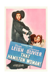 THAT HAMILTON WOMAN, from left: Vivien Leigh, Laurence Olivier, Vivien Leigh, 1941. Posters