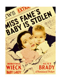 MISS FANE'S BABY IS STOLEN, from left: Dorothea Wieck, Baby LeRoy on midget window card, 1934 Prints