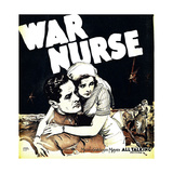 WAR NURSE, from left: Robert Montgomery, Anita Page on window card, 1930. Premium Giclée-tryk