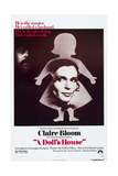 A DOLL'S HOUSE, Anthony Hopkins (rear), Claire Bloom, 1973 Prints