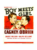 BOY MEETS GIRL, from left: James Cagney, Marie Wilson, Pat O'Brien, 1938. Art