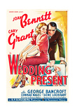 WEDDING PRESENT, US poster art, from left: Joan Bennett, Cary Grant, 1936 Print