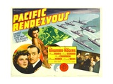 PACIFIC RENDEZVOUS, from left: Jean Rogers, Lee Bowman, Jean Rogers, 1942. Prints
