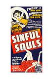 SINFUL SOULS, (aka UNBORN SOULS), poster art, 1939. Print