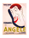 ANGELE, French poster art, Fernandel, 1934 Prints