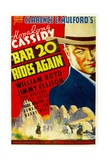 BAR 20 RIDES AGAIN, William Boyd (as Hopalong Cassidy), 1935. Poster