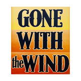 GONE WITH THE WIND, window card, 1939. Posters