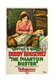 THE PHANTOM BUSTER, from left: Alma Rayford, Buddy Roosevelt on poster art, 1927 Posters