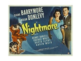NIGHTMARE, right from left: Diana Barrymore, Brian Donlevy, 1942. Lámina