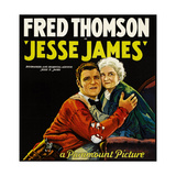 JESSE JAMES, style 'B' poster, left to right: Fred Thomson, Mary Carr, 1927. Prints