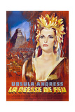 SHE, (aka LA DEESSE DE FEU), French poster, Ursula Andress, 1965 Art