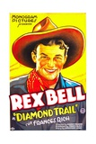 DIAMOND TRAIL, Rex Bell, 1933 Plakater