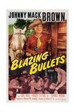 BLAZING BULLETS, Johnny Mack Brown on U.S. poster art, 1951. Prints