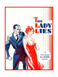 THE LADY LIES, US poster art, from left: Walter Huston, Claudette Colbert, 1929 Print