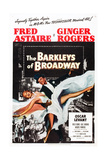 THE BARKLEYS OF BROADWAY, Fred Astaire, Ginger Rogers, 1949 Poster art Prints