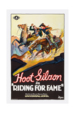 RIDING FOR FAME, Hoot Gibson, 1928. Prints