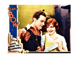 LOVE AMONG THE MILLIONAIRES, l-r: Stanley Smith, Clara Bow on lobbycard, 1930. Prints