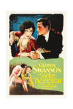 SADIE THOMPSON, top and bottom l-r: Gloria Swanson, Raoul Walsh on poster art, 1928. Prints